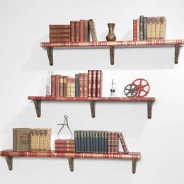 three large shelves from encyclopedias